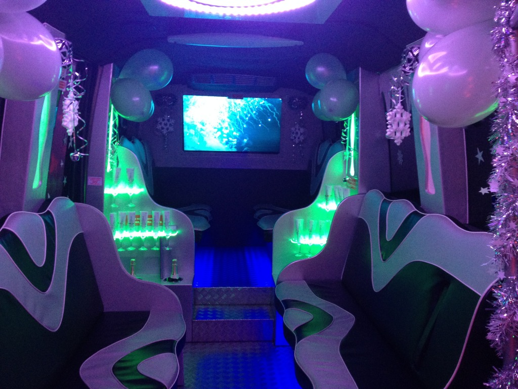 interior view bus hire in London, Essex and Hertfordshire