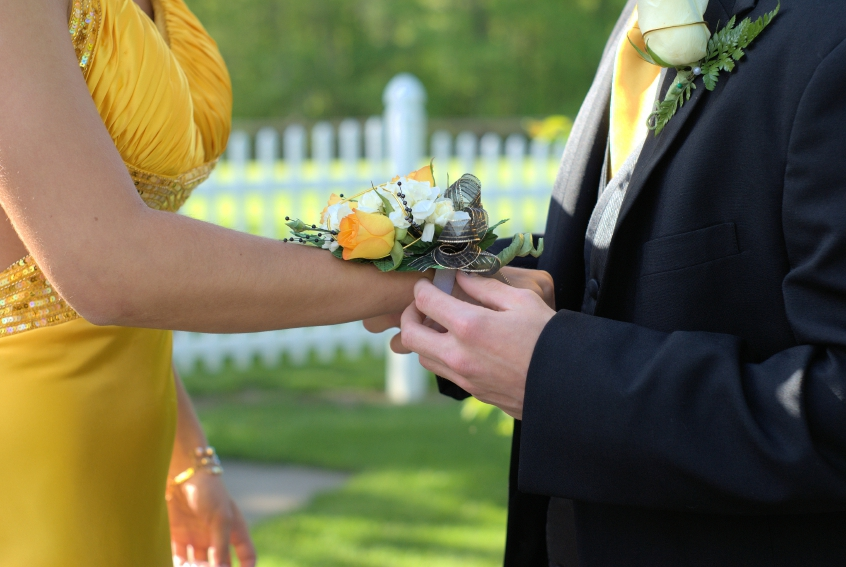 prom wedding couple corsage iStock_000015273882_Small