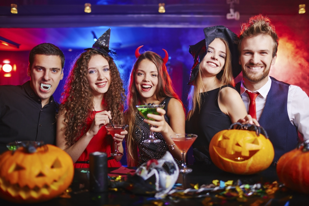 Halloween at nightclub